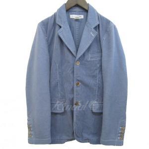 COMME des GARCONS SHIRT 2016A/W 切替染色加工ジャケット ブルーグレー サイズ:M (元町店) 190820|kindal