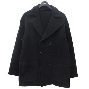 【12月14日値下】BROWN by 2-tacs ブラウンバイツータックス P-COAT オーバーシルエット ピーコート コート ブラック サイズ:|kindal