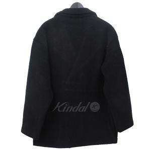 【12月14日値下】BROWN by 2-tacs ブラウンバイツータックス P-COAT オーバーシルエット ピーコート コート ブラック サイズ:|kindal|02