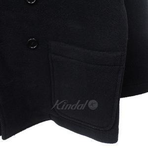 【12月14日値下】BROWN by 2-tacs ブラウンバイツータックス P-COAT オーバーシルエット ピーコート コート ブラック サイズ:|kindal|04