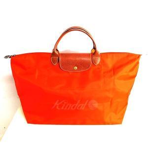 fb063c1022c7 LONGCHAMP プリアージュ折畳みバッグ 【色:オレンジ】 【状態:Cランク】