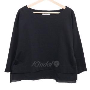 ADORE 裾レイヤード カットソー ブラック サイズ:38...