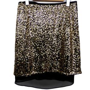ADORE ペチコート付きスパンコール装飾スカート ブラック...