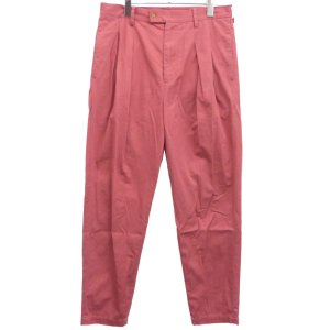 MAISON EUREKA 19SS「BURBERRY CLOTH TUCK PANTS」ハイウエストタックパンツ ピンク サイズ:L (渋谷神南店)|kindal