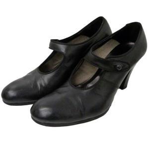 ARTS&SCIENCE 「merry jane high heel」レザーストラップシューズ ブラック サイズ:23 (渋谷神南店) 190720 kindal