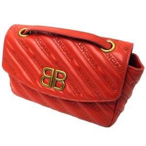 BALENCIAGA 「BB ROUND S」チェーンショルダーバッグ レッド サイズ:- (渋谷神南店) 190720 kindal