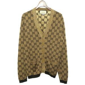 GUCCI GGジャガードカーディガン ブラウン サイズ:S (渋谷店) 190821|kindal