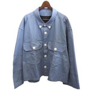 ANREALAGE 2019AW 「ZOOM OX SHIRTS」 ズームオックスフォードシャツ サックスブルー サイズ:M (渋谷店) 191023|kindal