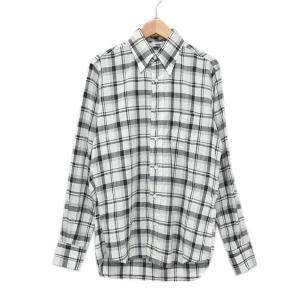 INDIVIDUALIZED SHIRTS チェック柄BDシャツ standard fit ホワイト・ブラック サイズ:14 1/2-32 (アメリカ|kindal