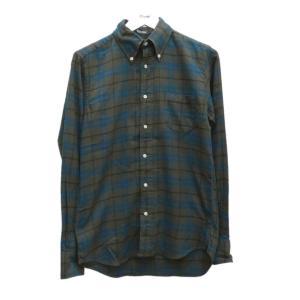 INDIVIDUALIZED SHIRTS チェック柄BDシャツ standard fit グリーン・ブルー他 サイズ:14 1/2-32 (アメリカ|kindal