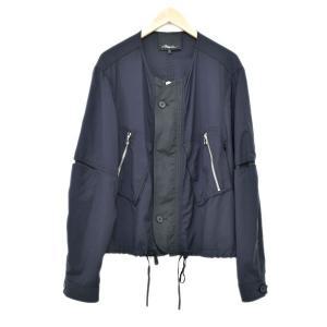 3.1 phillip lim ノーカラージップアップジャケット ネイビー サイズ:S (アメリカ村店) 190908 kindal