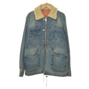 sacai 18SS 襟ボアデニムジャケット ライトブルー サイズ:2 (堀江店) 191023|kindal