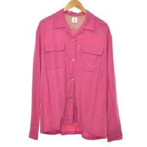 6 (roku)BEAUTY&YOUTH オープンカラーシャツ ピンク サイズ:36 (堀江店) 190625|kindal