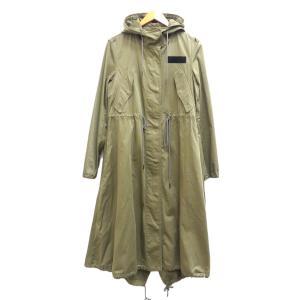 MM6 ロングモッズコート 2017SS Long Flared Hooded Parka カーキ サイズ:40 (茶屋町店) 190820|kindal