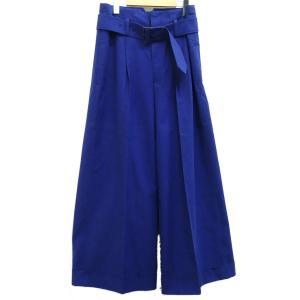 DRAWER タックワイドパンツ 2016SS ブルー サイズ:36 (茶屋町店) 190625 kindal