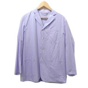 COMOLI 2015SS タイプライターコットン3Bシャツジャケット ブルー サイズ:1 (茶屋町店) 190820|kindal