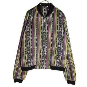 SAINT LAURENT PARIS ストライプヴァーシティリバーシブルジャケット マルチカラー サイズ:50 (元町店) 190819|kindal