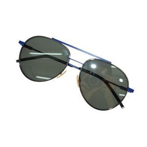 FENDI PJPT4 SAFILO ダブルブリッジサングラス ダークブルー×シルバー サイズ:56□16-145 (堀江店) 190819|kindal