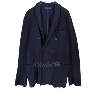 PRADA ニットダブルジャケット ネイビー サイズ:46 (三宮店) 190820|kindal