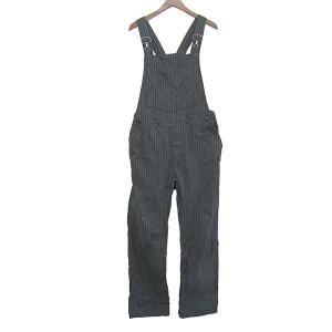 SCYE BASICS ストライプオーバーオール ブラック×グレー サイズ:29 (トアロード店) 190706 kindal