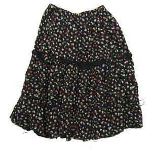 tricot COMME des GARCONS 解れ加工花柄レーヨンスカート ブラック サイズ:- (三宮店) 190818|kindal