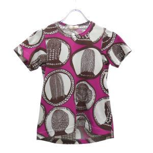 COMME des GARCONS ヘアープリントデザインTシャツ ピンク サイズ:SS (堅田店) 190625|kindal