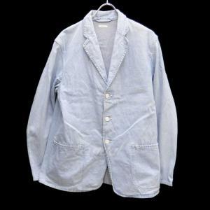 COMOLI デニム3ボタンジャケット ライトインディゴ サイズ:3 (堅田店) 190609|kindal