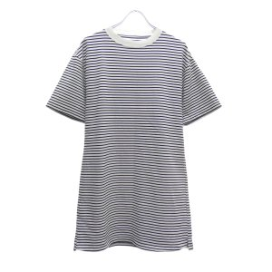 JANE SMITH ボーダーロングTシャツ ブラック×ホワイト サイズ:38 (堅田店) 190625|kindal
