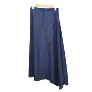 DRESSTERIOR イレギュラーデニムマキシ丈スカート インディゴ サイズ:36 (堅田店) 190716|kindal