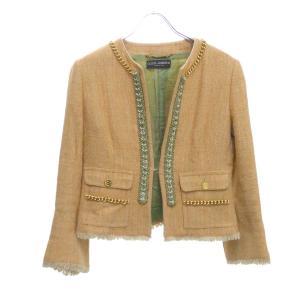DOLCE&GABBANA ノーカラージャケット オレンジ サイズ:40 (堅田店) 190815|kindal
