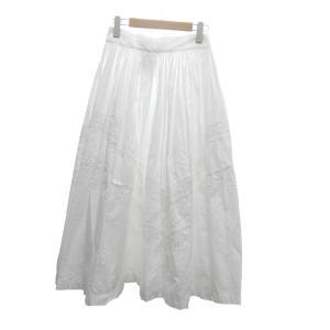 tricot COMME des GARCONS レースデザインロングスカート ホワイト サイズ:M (堅田店) 190822|kindal