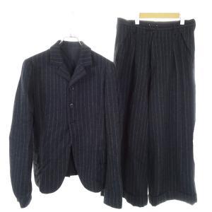 Ys セットアップストライプスーツ チャコールグレー サイズ:2/2 (和歌山店) 190821 kindal