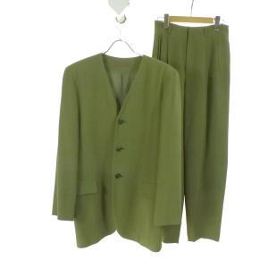 Jurgen Lehl シルク混セットアップスーツ グリーン サイズ:M/M (和歌山店) 190812 kindal