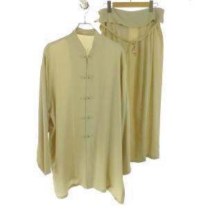 Jurgen Lehl シルクチャイナブラウス/シルクロングスカート セットアップ ベージュ サイズ:M (和歌山店) 190812 kindal