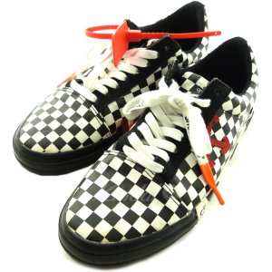 OFF WHITE '18SS「Vulc Low Top Sneaker」チェッカーボードスニーカー...