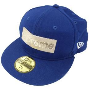 SUPREME×NEW ERA 16SS「Metalic box Logo New Era Cap」BOXロゴベースボールキャップ ブルー サイズ:7 kindal