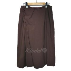 JIL SANDER デザインスカート ボルドー サイズ:36 (栄店) 190909|kindal