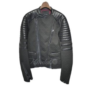 3.1 phillip lim レザー切替ボンディングバイカージャケット ブラック サイズ:XS (栄店) 190913 kindal