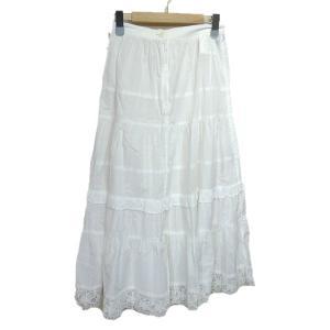 tricot COMME des GARCONS 裾レースデザインスカート ホワイト サイズ:S (栄店) 190709|kindal