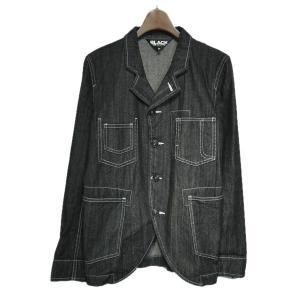 BLACK COMME des GARCONS ステッチデニムジャケット ブラック サイズ:M (栄店) 190721|kindal