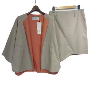 ADORE セットアップ/ノーカラージャケット&スカート ベージュ/ピンク サイズ:38/38 (栄店) 190805 kindal