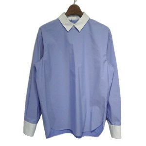 HYKE バックボタンプルオーバーシャツ ブルー サイズ:2 (栄店) 190914|kindal