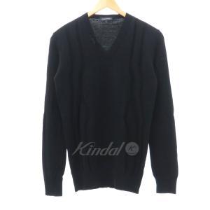 KRIS VAN ASSCHE Vネックデザインニットセーター ブr核 サイズ:XS (フレスポ東大阪店) 190820|kindal