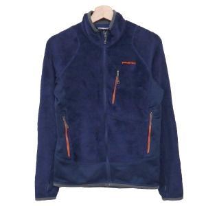 patagonia R2 Jacket フリースジャケット 25137 ネイビー×オレンジ サイズ:XS (奈良三条通り店) 190914 kindal