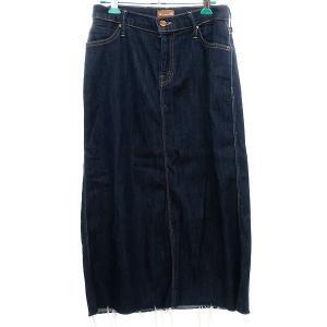 mother 【joyride straight A skirt】カットオフデニムスカート インディゴ サイズ:26 (明石店) 190715 kindal