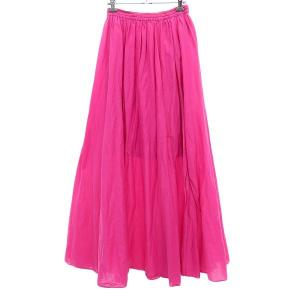 FRAY I D シルクブレンドワッシャーロングスカート ピンク サイズ:F (明石店) 190822|kindal