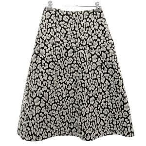 LE CIEL BLEU 総柄フレアスカート ブラック×ホワイト サイズ:34 (明石店) 190822|kindal