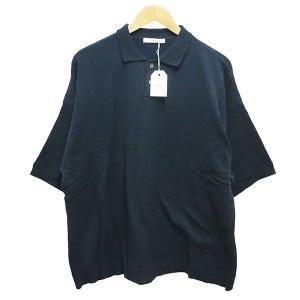 YASHIKI Mikage Knit Polo 18SS ネイビー サイズ:2 (阿佐ヶ谷店) 190820|kindal