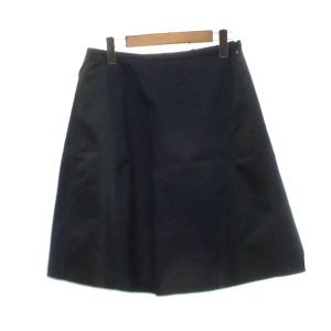 JIL SANDER NAVY コットン混 スカート ネイビー×ブラック サイズ:36 (京都店) 190912|kindal