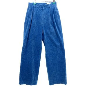 UNITED ARROWS コーデュロイハイウエストワイドタックパンツ ブルー サイズ:38 (明石店) 190914|kindal